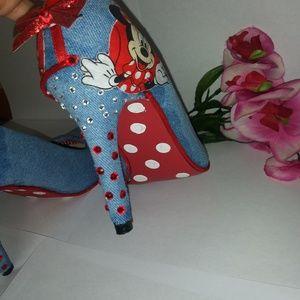 39aa3e0931b3 Handmade Shoes - HANDMADE MINNIE MOUSE HEELS